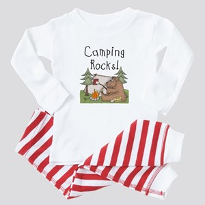 Bear Camping Rocks Baby Pajamas